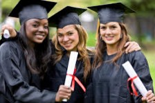 group of graduation girls looking very happy